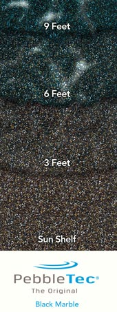 Pebble Tec With Black Marble Finish - Black pearl pebble tec pool bottom