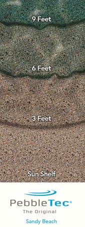 Pebble Tec With Sandy Beach Finish - Black pearl pebble tec pool bottom