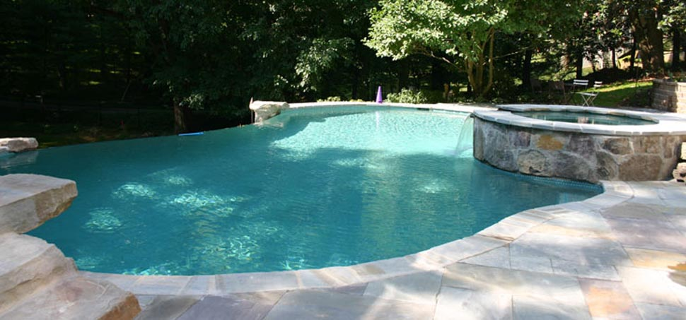 Pebble tec with soft white finish for Pebble finishes for swimming pools