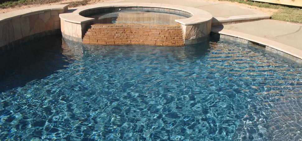 Pebble tec with moonlight grey finish for Pebble finishes for swimming pools