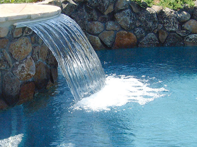 Curved Water Waterfalls